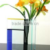 Modern design lovely shape home decoration clear acrylic flower vase