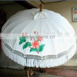 White Color Bali Style Patio Garden Umbrellas for Sale