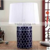 Blue and white ceramic chinese porcelain table lamp for bedroom