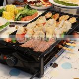 Smokeless electric heating barbecue stove, Korean barbecue pot, skewers stove, household barbecue machine, oven BBQ