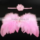 Lovely Decorative Feather Costume Wings For Baby Photo Props,Headband Sets For Dressing