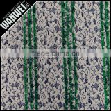 nylon cotton with thermo-fuse fabric new arrival Ladies dress green white curtain lace 7070