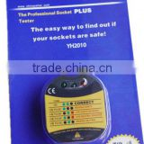 YH2010 UK Three Plug Socket Tester with Buzz Sound