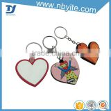 2016 hot sale plastic custom mini split alphabet letters key chain ring