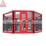 Floor mounted octagon MMA cage
