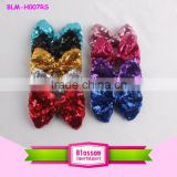 Latest hairband designs fancy hair accessories claw clips blingbling Sequin hair bow headband