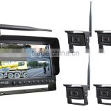 "CM7006W/4AV, 2.4GHz wireless backup 4 video in reversing kit, 7"" wireless rear view system with wifi night vision IR camera"