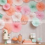 wedding birthday party decorative 8 inch 20 cm tissue paper honeycomb fan