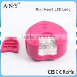 Cheap Portable Battery USB Mini Heart One Fingernail Electrical Nail Polish Dryer