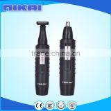 Nose ear facial hair trimmer with vortex cleaning system