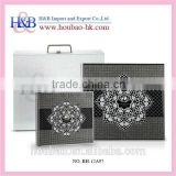 Hot Sale H&B 10*10, 14*14 black acrylic wedding photo guest book                                                                         Quality Choice