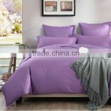 100% Cotton bedding set 400 Thread Count Egyptian cotton plain dyed solid color bedding set