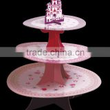 3 tiers cake stand for cake decorating in weeding