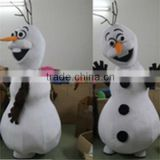 Hot sale lovely snowman olaf mascot costume for adult