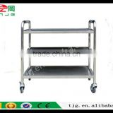 TJG CHINA Double Layer Three Layer Thickening Medical Treatment Instrument Car Stainless Steel Trolley Cart