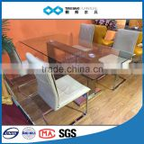 TB china furniture export 1.8m glass dining table 8 chairs set