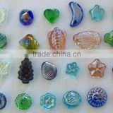 moon shape glass marble & heart shape glass marble for decorative
