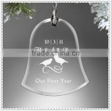 Christnmas Decoration Glass Bells Ornament For Kid's Gifts