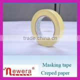 2015 Hot Sale Heat-Resistant High Temperature Crepe paper masking tape For Car Painting And Electronic Protection