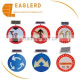 Solar led speed limiting signs circle signs