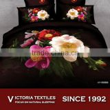 floral printed bed sheets set 4 pieces bed comforter cover set 3D PRINTED