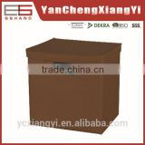 240gsm 3 layers non woven TNT Brown color square Multifuction American foldable storage box