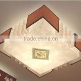 High quality LED strip light,square parchment light shade,indoor ceiling pandent light