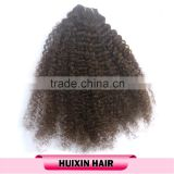 Factory price black women natural color virgin Brazilian hair weft afro kinky human hair weave
