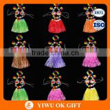 Fancy Dress Costume Hawaiian Grass Skirt Flower Hula Lei Garland
