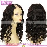 Qingdao Top Beauty Hair Factory Wholesale 7a Grade Human Hair U Part Wig White Women Lace Wigs