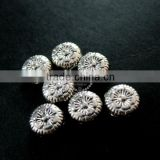 7mm vintage antiqued silver flower engraved flat alloy beads DIY beading supplies 3993015