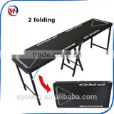 Top popular design 8FT 2 folding beer pong table/customize logo beer pong table