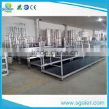 Indoor main portable spectator stand,bleacher stand with guardrail