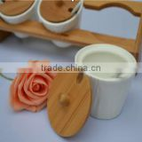 high quality wholesale ceramic spice holder /spice organizer wholesale/3pcs set ceramic spice pots whole sale