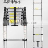 3.8 meters of aluminum telescopic ladder Aluminum Alloy bamboo ladder thickening household portable folding ladder stairs Pavili