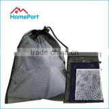 Wholesale Polyester Black Coarse Mesh Laundry Bag For Coat Socks