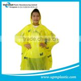 Emergency one time use waterproof PE rain capes