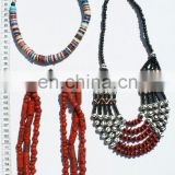 Bone charm necklace ethnic carved jewelry wholesale