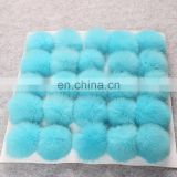 Custom color rabbit fur pompom fashion fur accessory rabbit fur ball