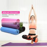 OEM China manufacturer wholesale private lable eco friendly cheap non slip custom yoga mat with carry strap