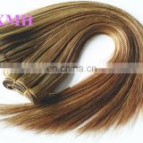 wholesale 100%human hair weaving mixed color dark brown hair color highlights