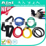 Rubber resistance tubing 11 pieces resistance band set