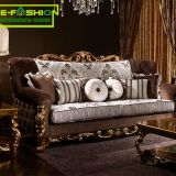 American classic home furniture of hand carving living room big sofa set