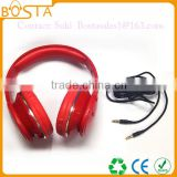 Wired stereo super bass hifi music communication bulk sales headphones with detachable cables