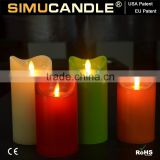 battery operated floating wick candle led with USA and EU patent blow christmas with Dancing Flame