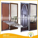 iron board wall mount with dressing mirror living room furniture
