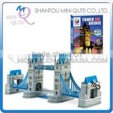 Mini Qute Tower Bridge building block world architecture 3d paper diy model cardboard jigsaw puzzle educational toy NO.G268-9