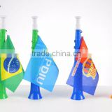 Hand Held Air Horn for Sport Games with National Flag