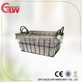 Home organization wire toy storage basket , Hot selling Cheap metal basket, Wholesale S/2 Liner Iron Wire Basket