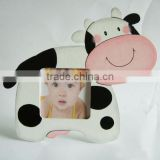 Cow cartoon frame, wooden baby photo frame, picture frame,kids cartoon frame,